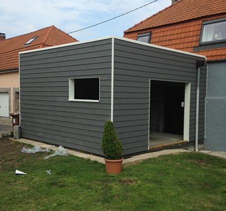 Construction d'extension de bâtiment ossature bois à Béthune (Annezin)