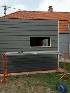 Construction d'une extension de maison à ossature bois - Lemaire & Fils (Annezin)