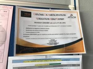 Diplômes et certificats de SARL Lemaire & Fils - Formation Réno'Epert